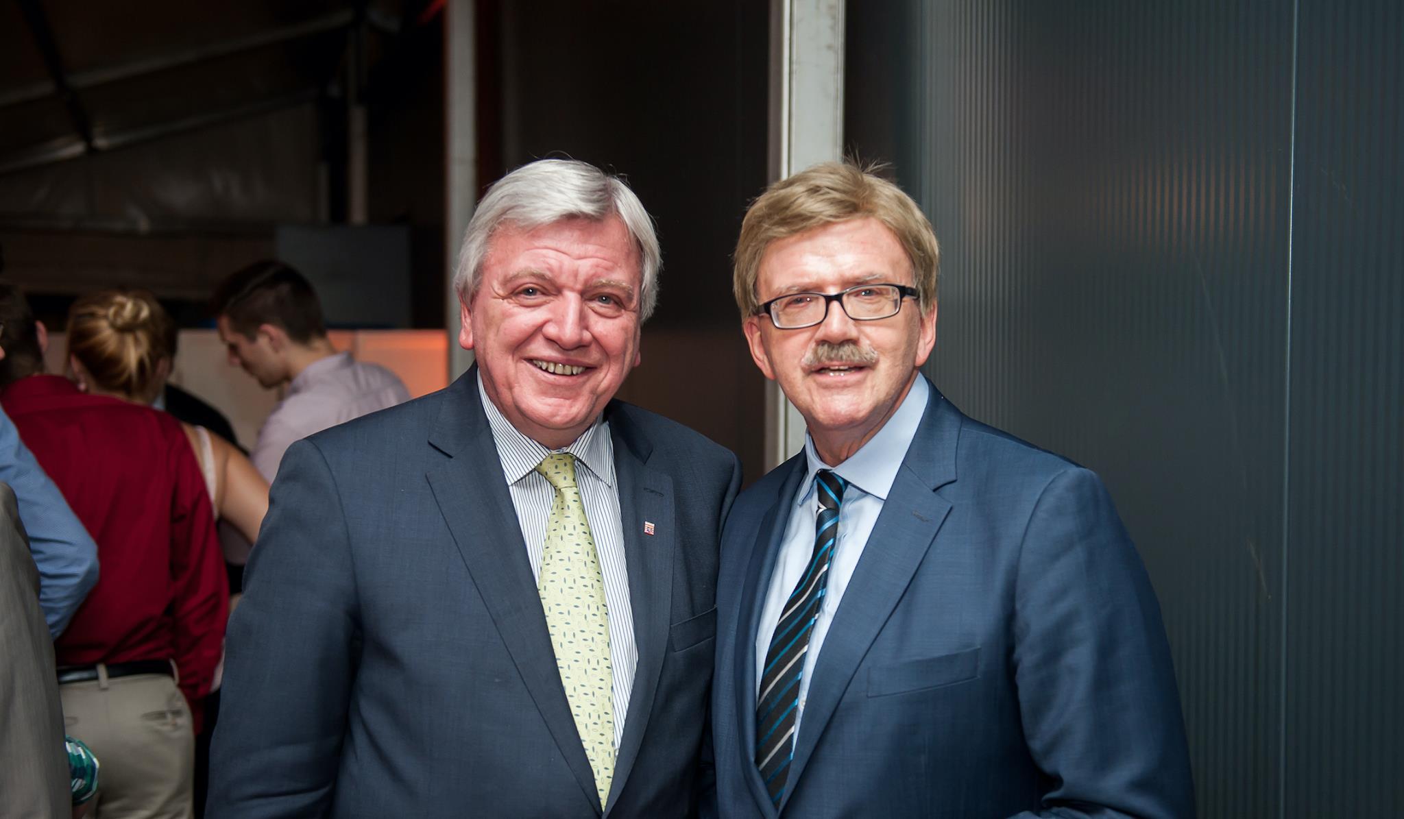 Ministerpräsident Volker Bouffier und Thomas Mann