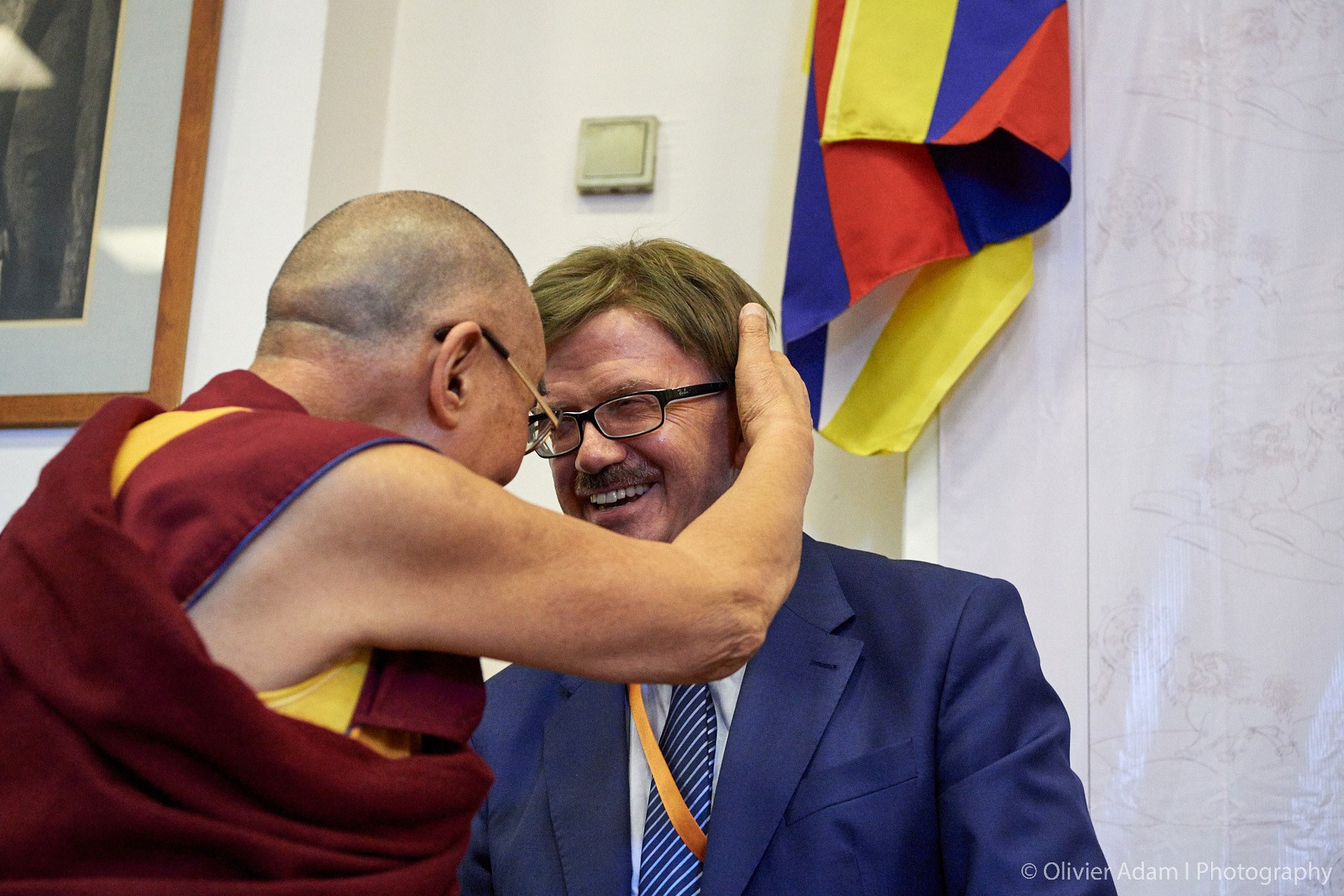 Dalai Lama zu Besuch in Brüssel 2016